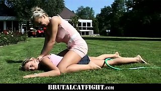 Young wife spank her husband mistress