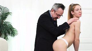 Sensual schoolgirl is teased and penetrated by older 66Uvo