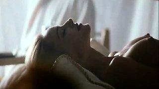 Joan Severance and May Karasun both nude at a bath house in