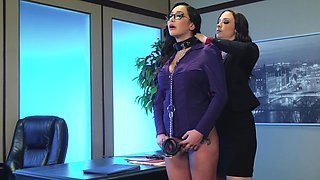 Secretary submits to her beautiful boss for office sex