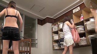 Japanese girl caught naked on changing room spy cam pk10