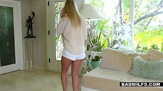 Student bangs milf and teen Rachael Cavalli and Amber Addis by the pool