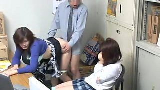 Voyeur video with naughty blowjob and japanese drilling