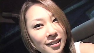 Jyuri Serizawa loves stroking cock in the car  - More at