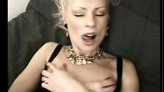 Sexy blonde French mature granny anal fisted hard