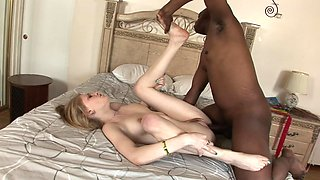 Allie James takes an interracial creampie from his BBC