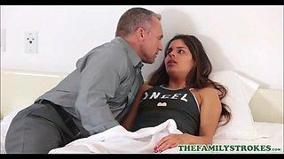 Hot tiny teen latina step daughter katya rodriguez fucked by step dad