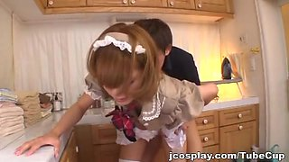 Alluring Asian maid Anna Anjo does her job too well