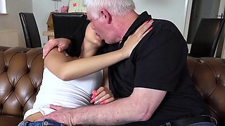 Old young porn Hot 18years old virgin sex with old man