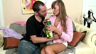 Hot babysitter gets penetrated hard by her boss