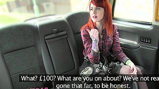 Female Fake Taxi Sexy lesbian dominates redhead
