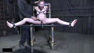 Bound Sub Gets Punished with Toys and Gags