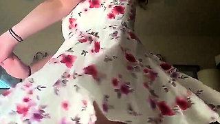 slow motion nunder skirt