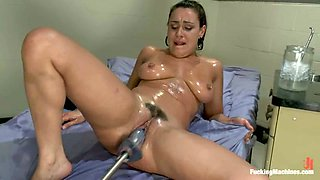 Charley Chase plays with a fucking machine in a hospital ward