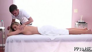 Energetic pounding for cute babe