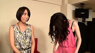 Exciting Oriental ladies take turns enjoying some hard meat