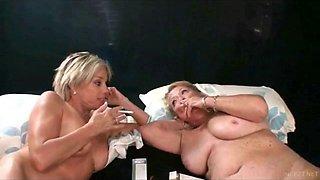 Grandma and mommy teach a virgin son