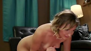Naughty vixen penetrates athletic slave with big strapon