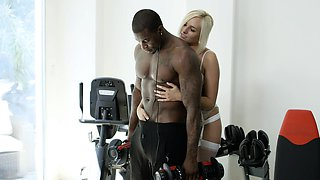 Cheating Blonde Wife Fucks Husbands Black Friend