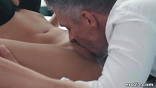 Hot secretary and her big cocked boss