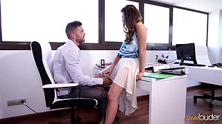 Mexican babe Frida Sante enjoy crazy quickie with one of her co-workers