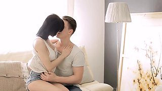 Cute dilettante babe gets incredible pleasures for her slit
