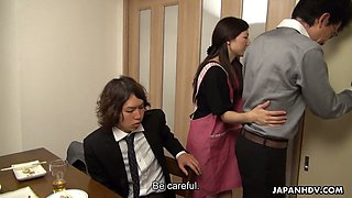 Quite bootyful Japanese housewife Mizuho Yamashiro rides on stiff dick