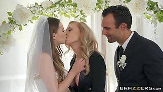 Jillian Janson, Alex Legend And Nina Hartley In Bride, Groom And Bride's Maid Throw A Crazy Threesome