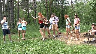 Dominica Phoenix & Eva Berger & Nika Star & Mancy & Rita Rush & Sabrina M in naked students having hardcore shag in nature