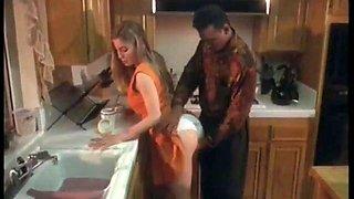 Moana Pozzi in Kitchen