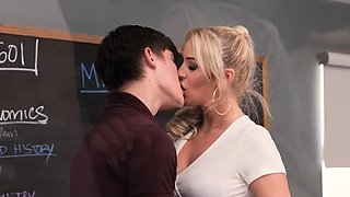 Naughty America - Blonde teacher helps her student