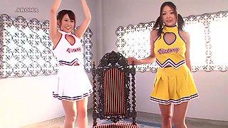 Very Flexible Cheerleader Pleasure Each Other - CosplayInJapan