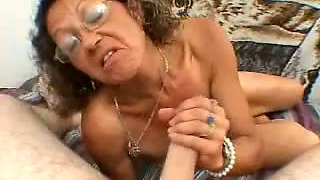 Nasty slut Candi is sucking her lover's dick and she is clearly loving it