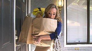 Stepmom Brandi Catches Her Stepson Sniffing Her Bras