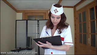 Nurse kami spanked by a movie star and the doctor