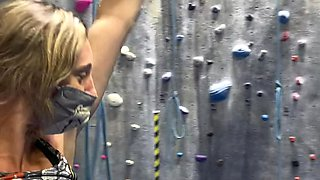 My first time flashing at the rock climbing gym