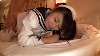 Hottest Japanese girl Airi Satou in Crazy maid, college JAV movie