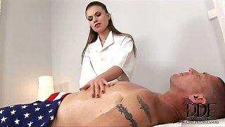 Sexy Masseuse Sucks Cock In 69