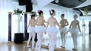 Brunette teen round ass first time Ballerinas