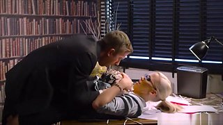 Big Dicked Boss Fucks His Busty Secretary In The Office