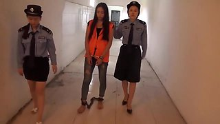Chinese Prison Girl in Inescapable Metal Bondage