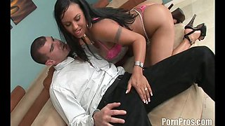 Mariah Milano being drilled in her shaved puss