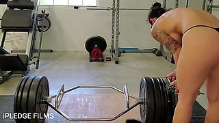 Fit Milf Ipledge Deadlifts And Dances Naked In The Gym