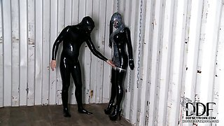 Latex Lucy Chained & Fucked