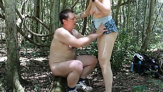 The Wife and Hubby fucking in the forest