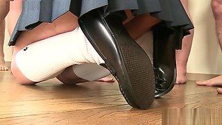 Bukkake - Japanese teen in school uniform - Uncensored