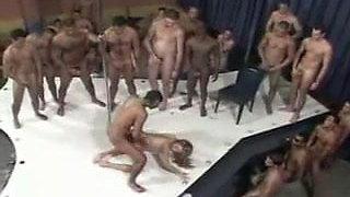 A Brazilian Woman and 100 Men