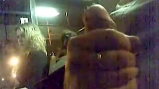 College girl watches guy masturbate on the bus