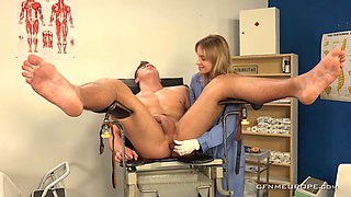Lady in black Dominantni Sestra has strapon to fuck her stud's asshole