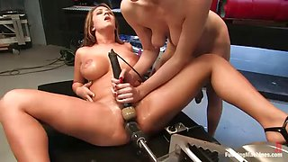 hot babes find pleasure in fucking with machines